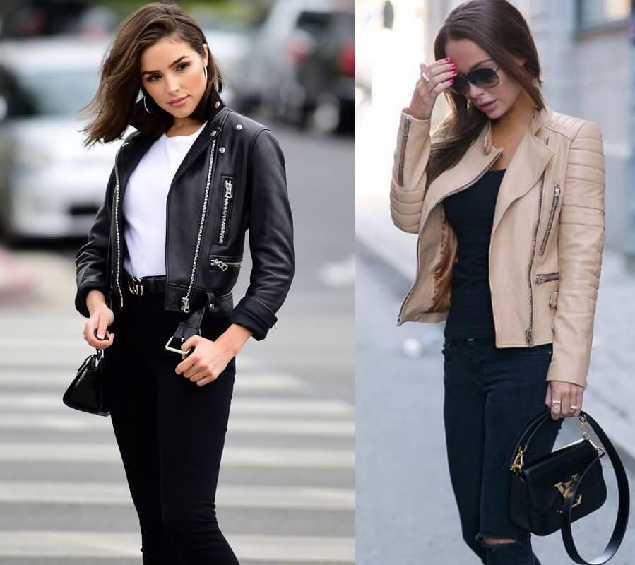 Модные тенденции 2018-2019 года - кожаные куртки. Модные рекомендации