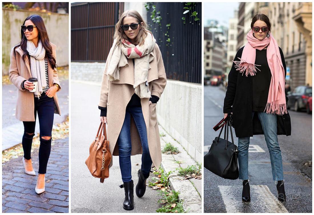 Какой шарф носить под демисезонное женское пальто - Блог Фаворитти